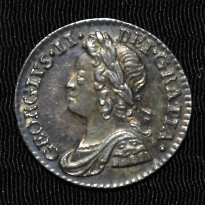 1759 Great Britain, George Ii Maundy Penny, Km 657, Choice About Uncirculated