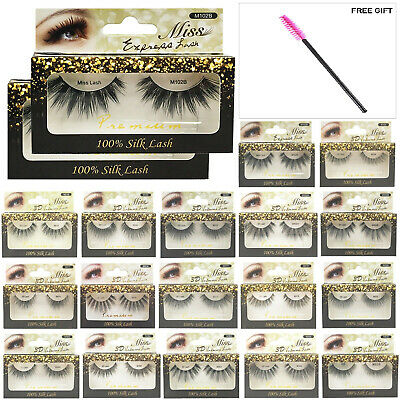 MISS LASHES 3D Volume Tapered Natural Silk Eyelash Extension [2 PACKS]+FREE GIFT