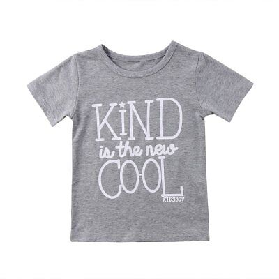 """S-324G Toddlers """"Kind is the New Cool"""" Gray T-shirt 2T-6T (Free Shipping)"""