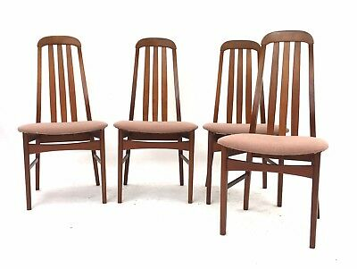4 x Vintage Retro Mid Century Danish Era Kofoeds Style Tapered Dining Chairs