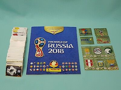 Panini WM 2018 Russia World Cup komplett Set alle 670 Sticker + Sammelalbum