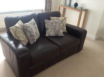 Astonishing Next Brown Leather Sofas Excellent Condition One 3 And One Pdpeps Interior Chair Design Pdpepsorg