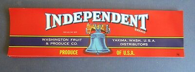 Wholesale Lot of 50 Old Vintage Independent - Produce LABELS  Liberty Bell - RED