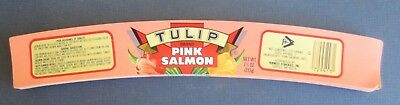 Wholesale Lot of 100 Old Vintage - TULIP - Pink Salmon - Can LABELS - Seattle WA