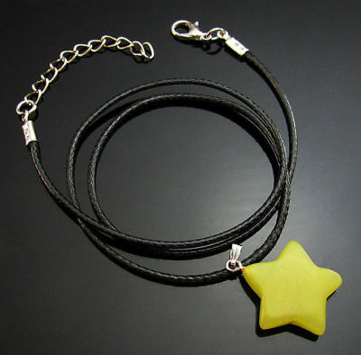Beads gemstones Pendant Lemon Reiki star Charms stone Natural Necklaces Chakra