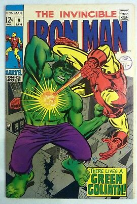 Iron Man 9 Incredible Hulk Silver Age VFN++ Condition 1969 Superb Copy
