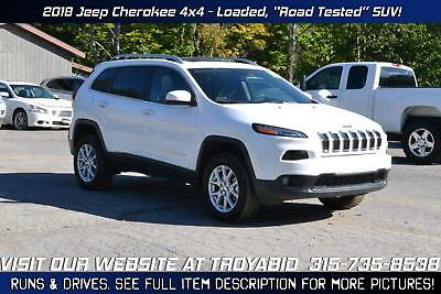 Cherokee NO RESERVE 2018 Jeep Cherokee 4x4 2k Miles! Leather Rebuildable SUV Repairable Damaged