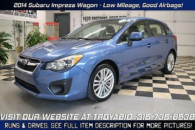 Impreza NO RESERVE 2014 Subaru Impreza Wagon AWD Rebuildable Car Repairable Damaged Wrecked