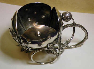 Antique Silver Plated Meriden Whimsical Figural Nut Bowl