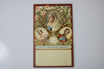 ANTIQUE 1897 QUEEN VICTORIA JUBILEE YEAR POSTCARD Nice Condition GERMAN LITHO