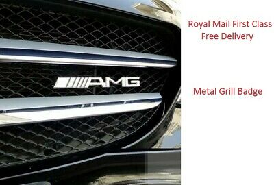 Mercedes Benz Chrome AMG Logo Front Hood Grille Grill Badge For All Models