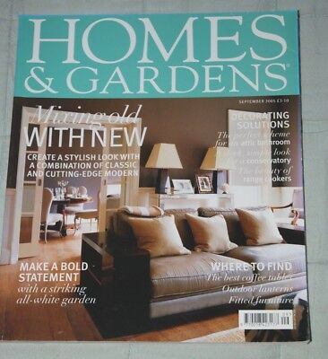 Vintage HOMES & GARDENS Magazine September 2005, Features Stylish Designs
