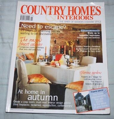 Vintage COUNTRY HOMES & INTERIORS Magazine, November 2004