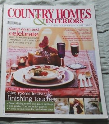 Vintage COUNTRY HOMES & INTERIORS Magazine, January 2005