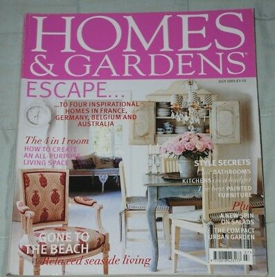 Vintage HOMES & GARDENS Magazine July 2005, Houses, Decorating, Gardening, Food