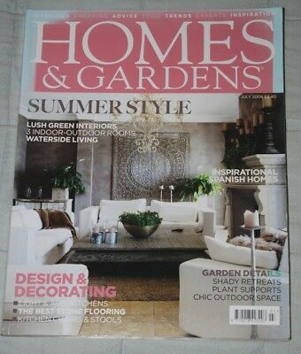 Vintage HOMES & GARDENS Magazine July 2008, Features Summer Style Design