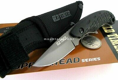 Schrade Old Timer Copperhead Titanium MINI Fixed Blade Knife + Sheath
