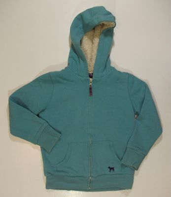 MINI BODEN blue hooded JACKET lined girls 7 8 play