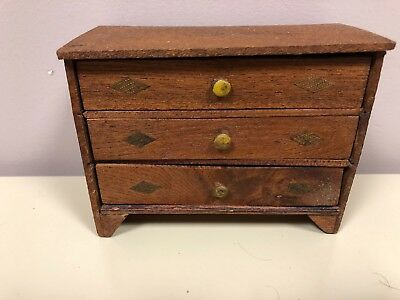Antique Adorable Doll Dresser Handmade Says Aunt Martha S Bureau