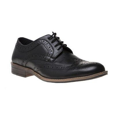 3656ae1f21815 SILVER STREET FENCHURCH Brogue Mens Leather Lace Up Cleated Burgundy ...