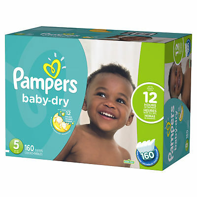 Pampers Baby-Dry Diapers Size 5 160 Count