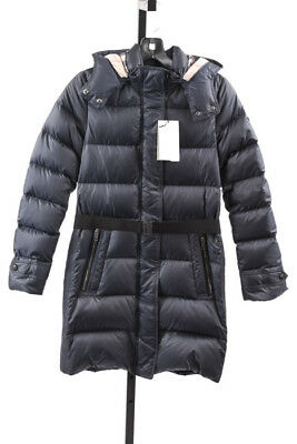 Burberry Mini Dalesford navy girls 12 check quilted puffer coat jacket NEW $450