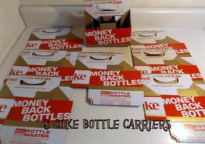 8 New Old Stock Vtg Coke 6-Pack Carriers for 6½ Ounce Coca-Cola Bottles