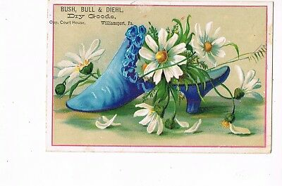 VICTORIAN ADVERTISING / TRADE Card     BUSH, BULL & DIEHL  -  WILLIAMSPORT, PA