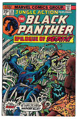 JUNGLE ACTION 18 (1975) Black Panther vs. Madam Slay! F/VF 7.0