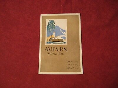 1930 Auburn 6 & 8 Showroom Brochure Catalog Old Original Vintage Booklet Book