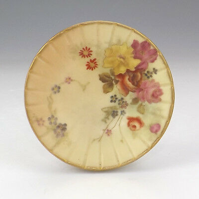 Royal Worcester Porcelain - Flower Decorated Blush Ivory Glazed Pintray - Nice!