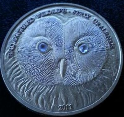 2011 MONGOLIA URAL OWL 500 TOGROG (1 oz) BEUTIFUL SILVER COIN