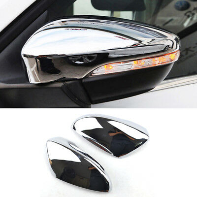 Chrome Door Mirror Covers 2Pcs Fit For VW Passat B7 CC Jetta A6 Scirocco MK3