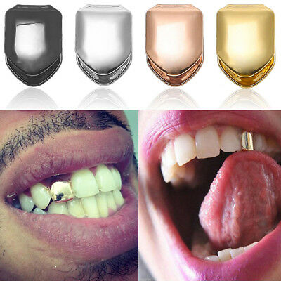Silver Gold Plated Single Tooth Grill Cap Teeth Hip Hop Tooth Grillz Jewellery