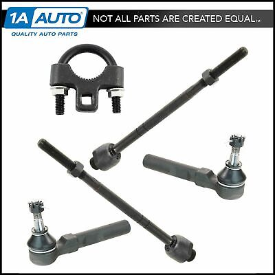 Inner & Outer Tie Rod End Set of 4 w/ Tool for Silverado Sierra 2WD Pickup Truck