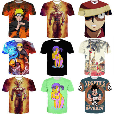 S-5XL Women Men Japanese Anime Character Cartoon 3D Print T-Shirt Casual Top Tee