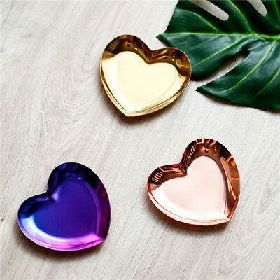 Heart Shaped Jewelry Storage Tray Small Jewelry Plate Rustic Table Organizer Z