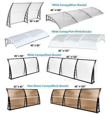 Window Awnings Patio Cover Canopies UV Rain Snow Protection Sun Shelter Canopy