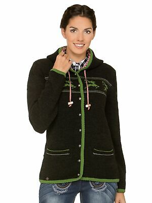Stockerpoint Traditional Knitted Jacket Ornella Anthracite
