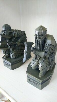 The Hobbit :The Desolation of Smaug Lonely Mountain dwarf Statue Bookends 2PCS