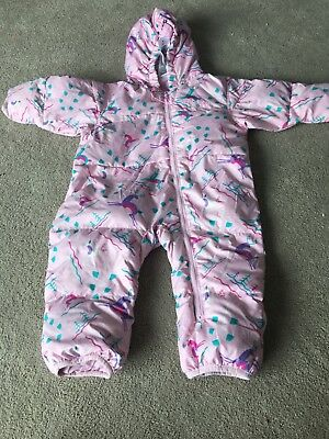 Girls Colombia Snowsuit Age 18 Months Pink