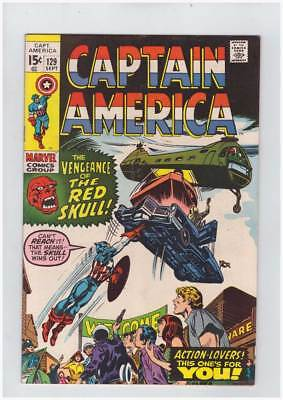 Captain America # 129  The Vengeance of the Red Skull ! grade 8.5 scarce book !