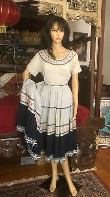Vintage custom made Gypsy skirt and top 1950's