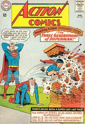 Action Comics (DC) #327 1965 VG 4.0 Stock Image Low Grade