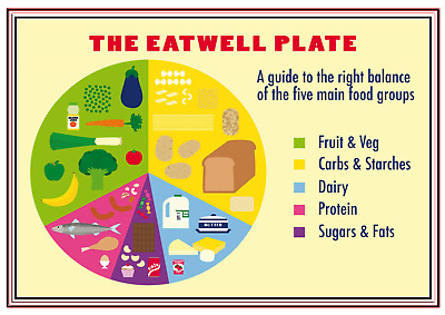 A4 Poster Sign Eat Well Educational Children Kids Childminders