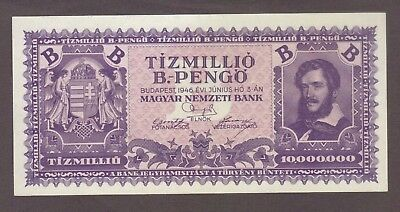 1946 10 Quintillion Pengo Hungary Currency Gem Unc Banknote Note Money Bill Cash