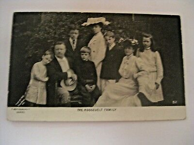 Antique 1903 President Theodore Roosevelt The Roosevelt Family Postcard