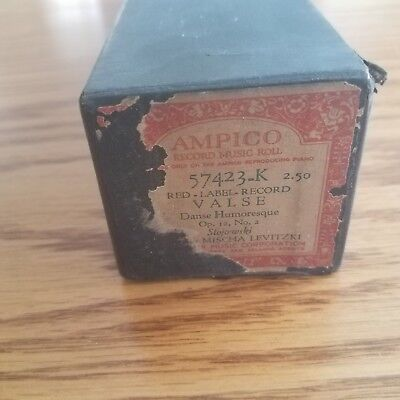 VTG AMPICO Recording Player Piano Roll 57423-K Valse Danse Humoresque