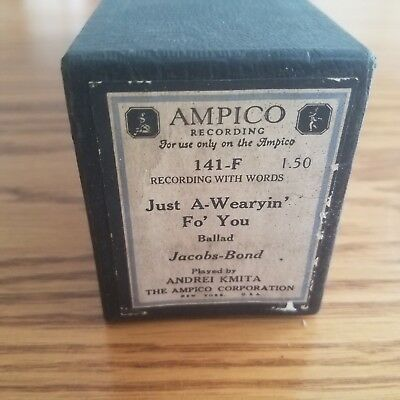 VTG AMPICO Recording Player Piano Word Roll 141-F Just A-Wearyin' Fo' You