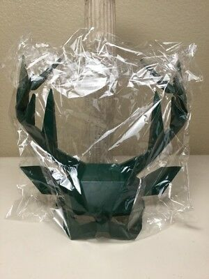 New Jagermeister Stag Mask Collectable Halloween 2017 Promo Green Plastic Horned